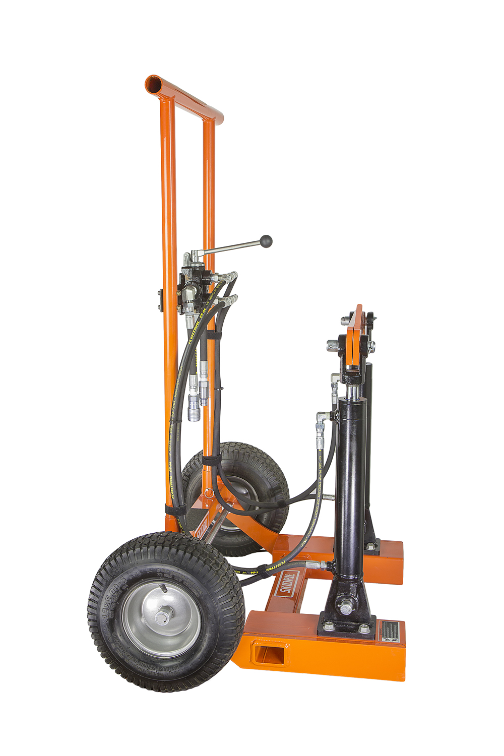 Hydraulic Line Puller : Post puller stake sign hydraulic